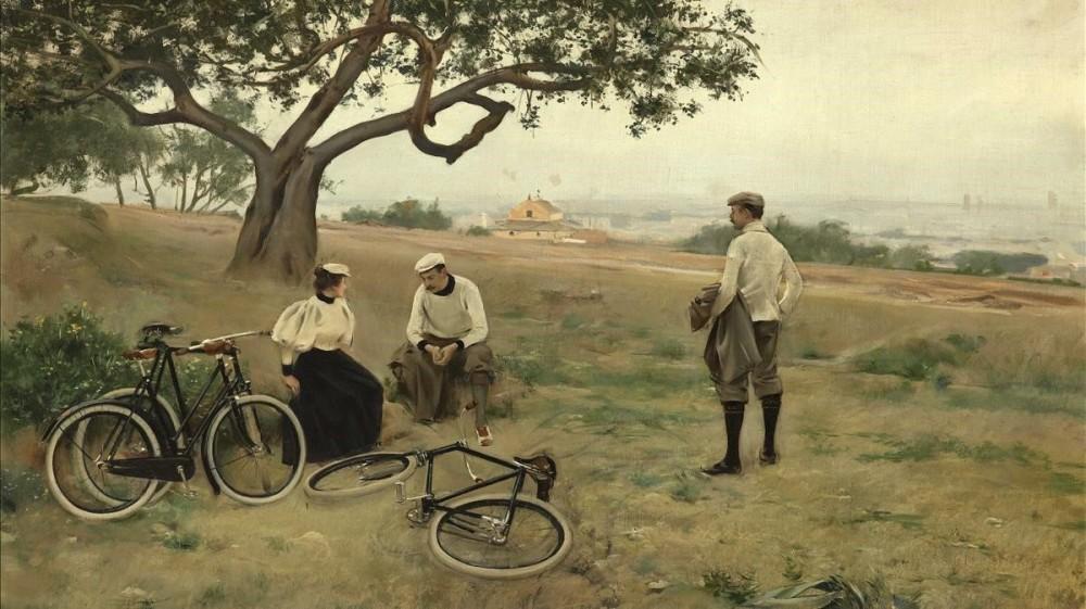 Ramón Casas. El descanso de los ciclistas. 1886. Fundacion Fran Daurel. Aravaca. Madrid