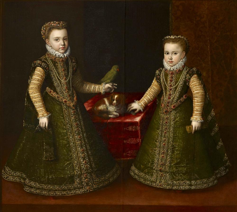 Sofonisba Anguissola. Infantas Isabella Clara Eugenia y Catalina Micaela. 1570. Colección Real.