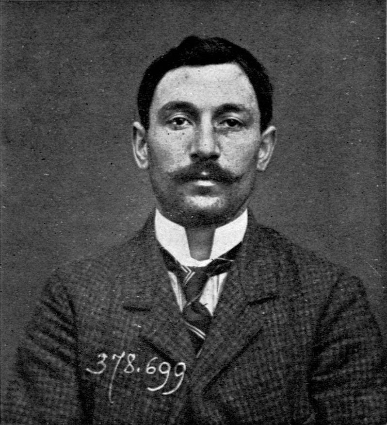 Vincenzo Peruggia. Supuesto ladrón de la Gioconda.