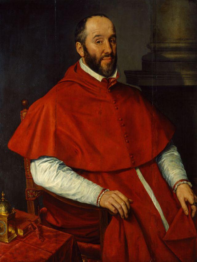 Willem Key. Retrato de Antoine Perrenot, cardenal Granvela.j1561. Museo Real de Bellas Artes. Bruselas.