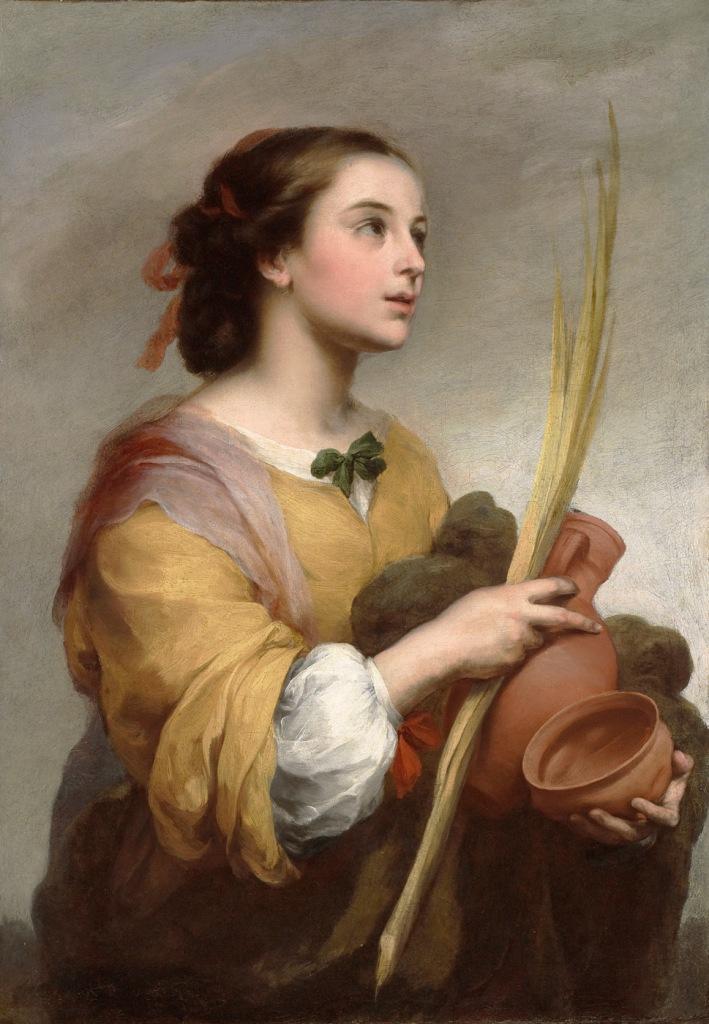 Bartolomé Esteban Murillo. Santa Justa. 1665. Meadows Museum. Dallas.