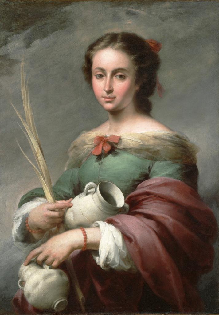 Bartolomé Esteban Murillo. Santa Rufina. 1665. Meadows Museum. Dallas.
