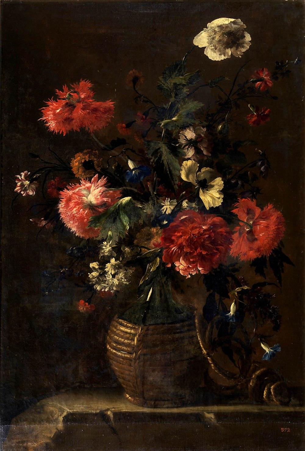 Bartolomé Pérez de la Dehesa (atribuido a). Florero. Siglo XVII. Museo Nacional del Prado. Madrid.