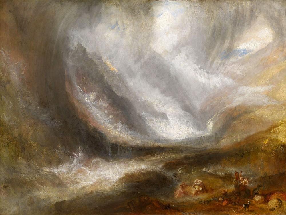 J. M. W. Turner. Valle de Aosta: tormenta de nieve, avalancha y tormenta. 1836-1837. Art Institute. Chicago.
