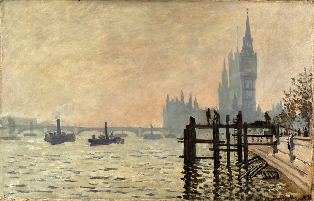 Claude Monet. El Támesis bajo Westminster. Hacia 1871. National Gallery. Londres.