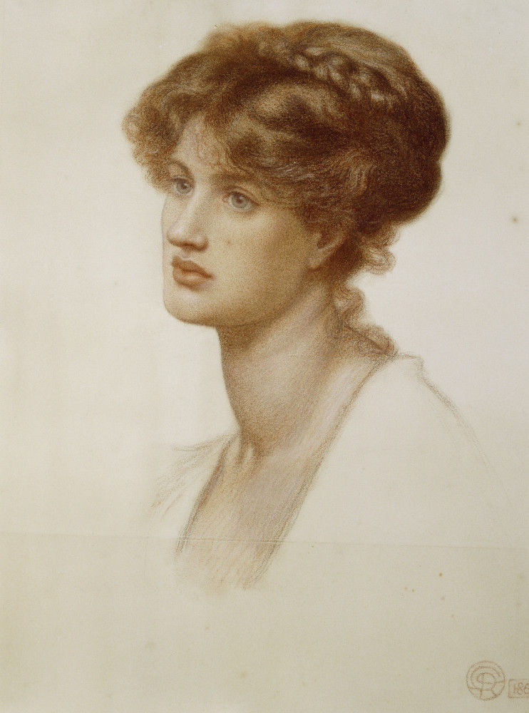 Dante Gabriel Rossetti. Marie Spartali Stillman. 1869. Colección Andrew Lloyd Webber.
