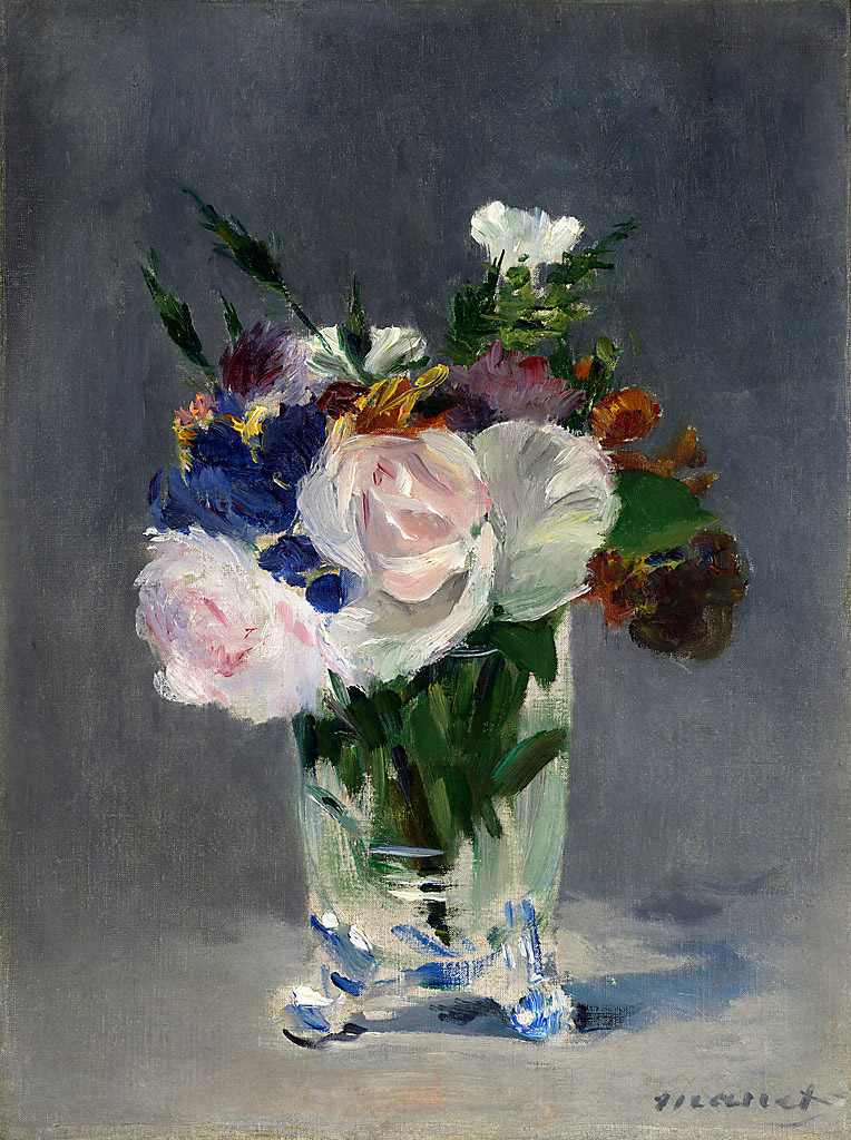 Edouard Manet. Flores en un jarrón de cristal. Hacia 1882. National Gallery of Art. Washington.