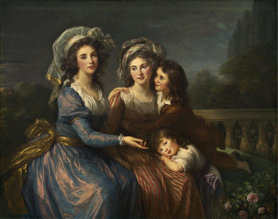 Elisabeth-Louise Vigée Le Brun. La marquesas de Pezay y de Rougé con sus hijos Alexis and Adrien. 1787. National Gallery of Art. Washington.