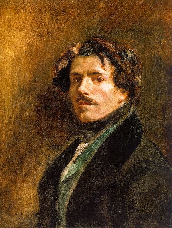 Eugène Delacroix. Autorretrato. 1837. Museo del Louvre.