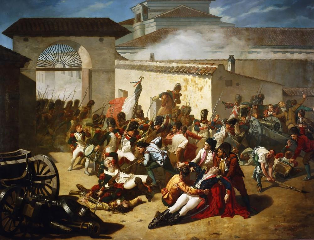 Eugenio Álvarez Dumont. Malasaña y su hija batiéndose contra los franceses. 1887. Museo del Prado. Depositado en el Museo de Zaragoza.
