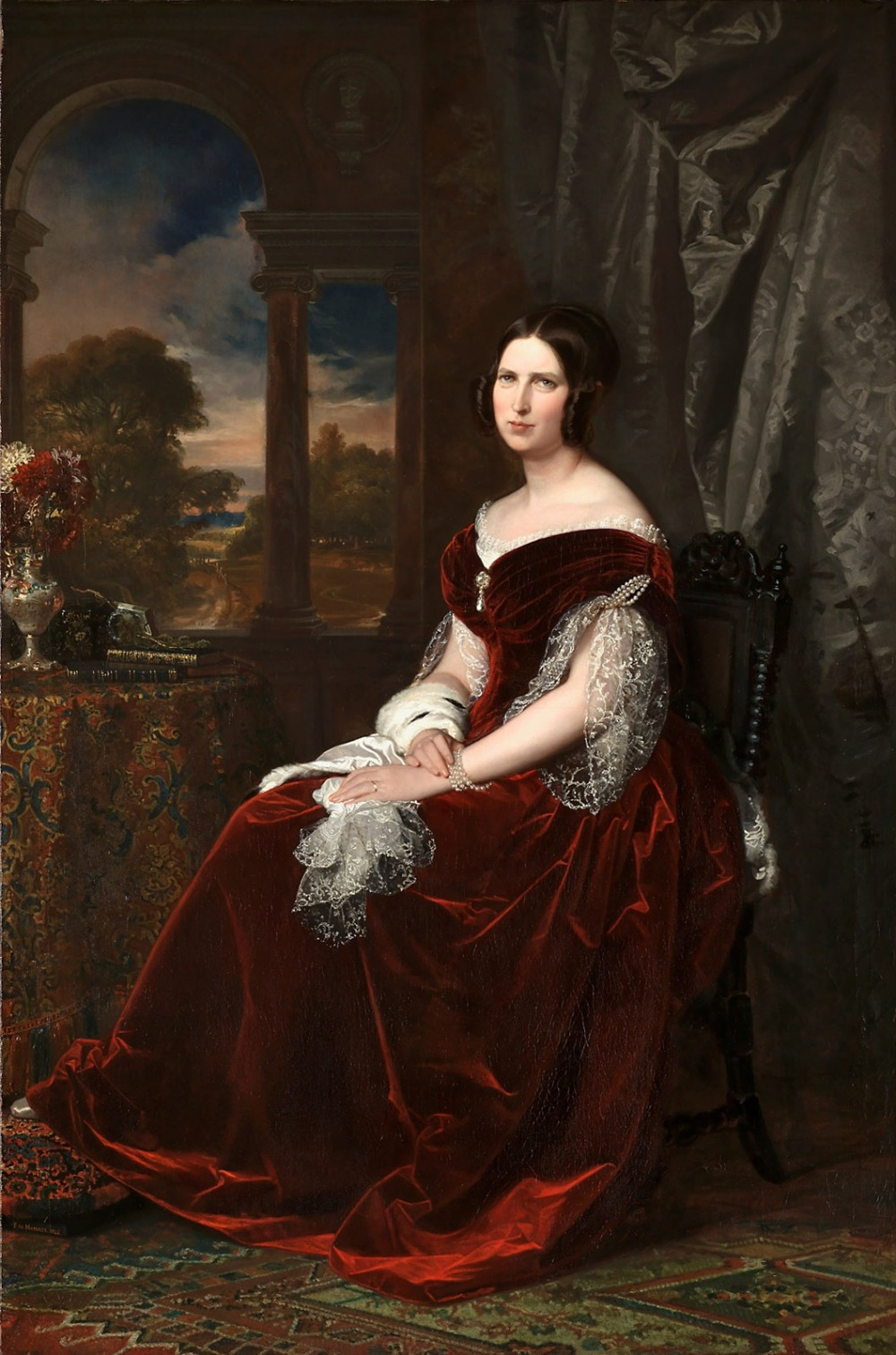 Federico de Madrazo. Sabina Seupham Spalding. 1846. Museo Nacional del Prado. Madrid.