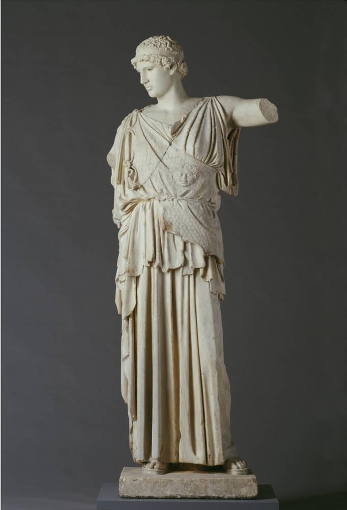 Fidias. Athenea Lemnia. 450-430 a de C. Skulpturensammlung. Dresden.