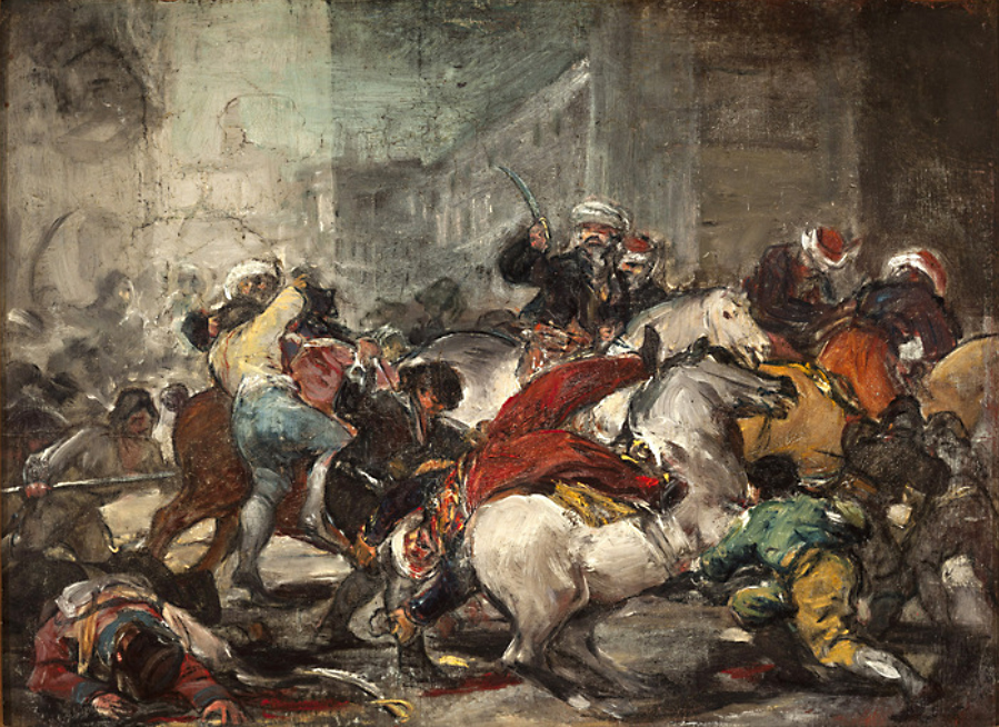 Francisco de Goya. El dos de mayo o la carga de los mamelucos. 1814. Colección Ibercaja. Museo Camón Aznar. Zaragoza.