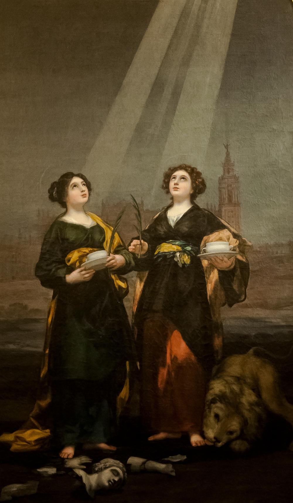 Francisco de Goya. Santas Justa y Rufina. Catedral de Sevilla. 1817.