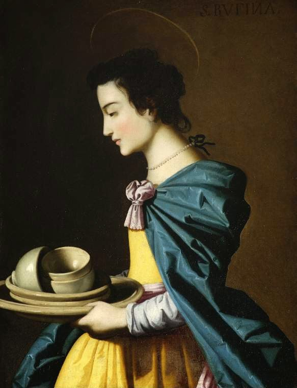 Francisco de Zurbaran (Taller). Santa Rufina. 1635-1640. The Fitzwilliam Museum. Cambridge.