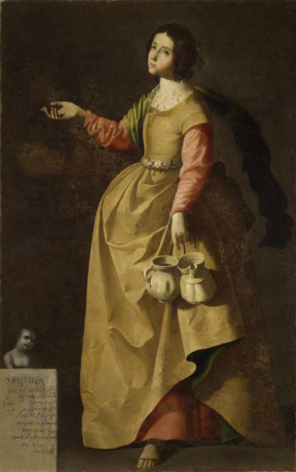 Francisco de Zurbarán. Santa Rufina. 1635-1640. National Gallery of Ireland. Dublin.