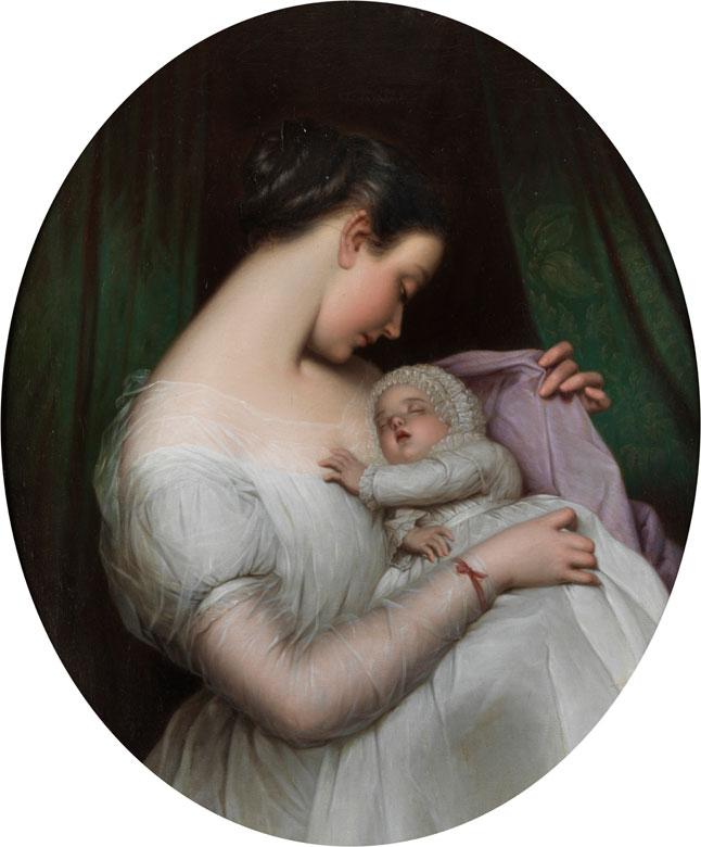 Friedrich von Amerling. La madre feliz. Mediados del siglo XIX. Colección particular.