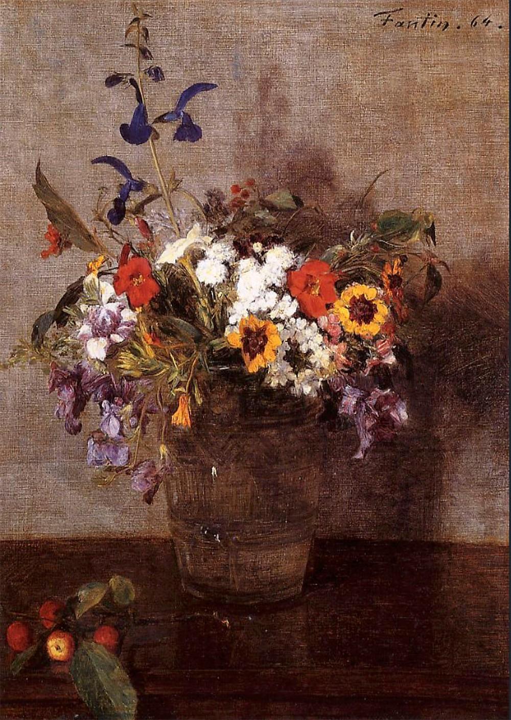 Henri Fantin-Latour. Flores diversas. 1864. Colección particular.