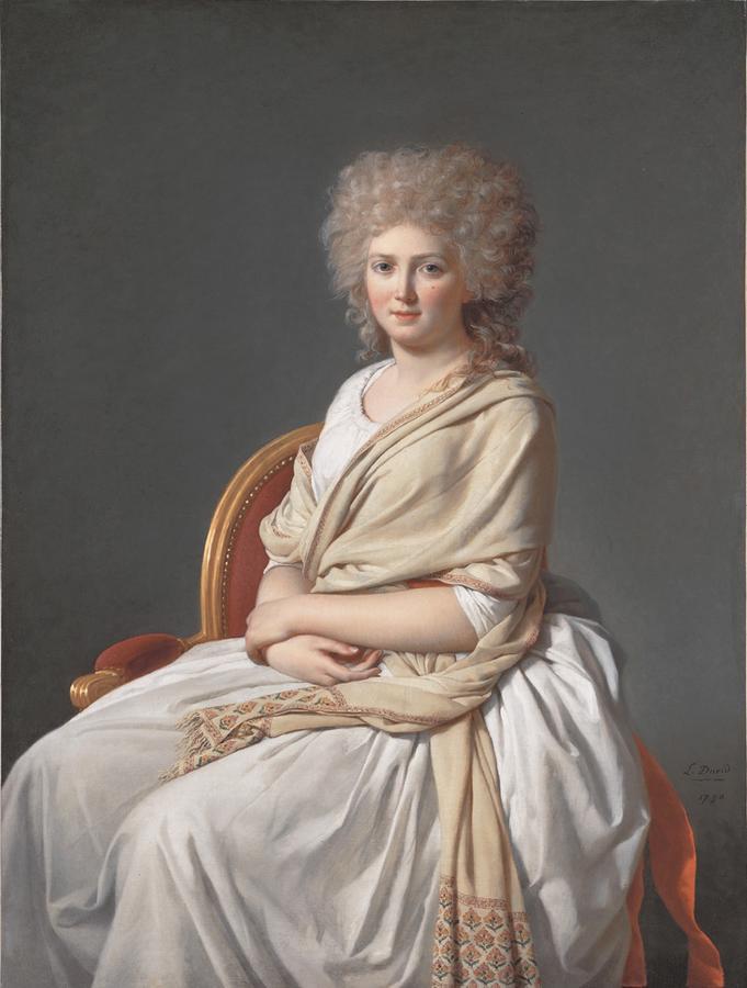 Jacques-Louis David. Anne-Marie-Louise Thélusson, Condesa de Sorcy. 1790. Neue Pinakothek. Munich.