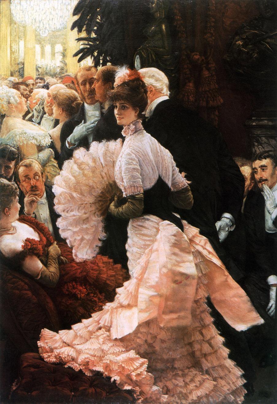 James Tissot. Una mujer ambiciosa. 1883-1885. Albright–Knox Art Gallery. Buffalo.