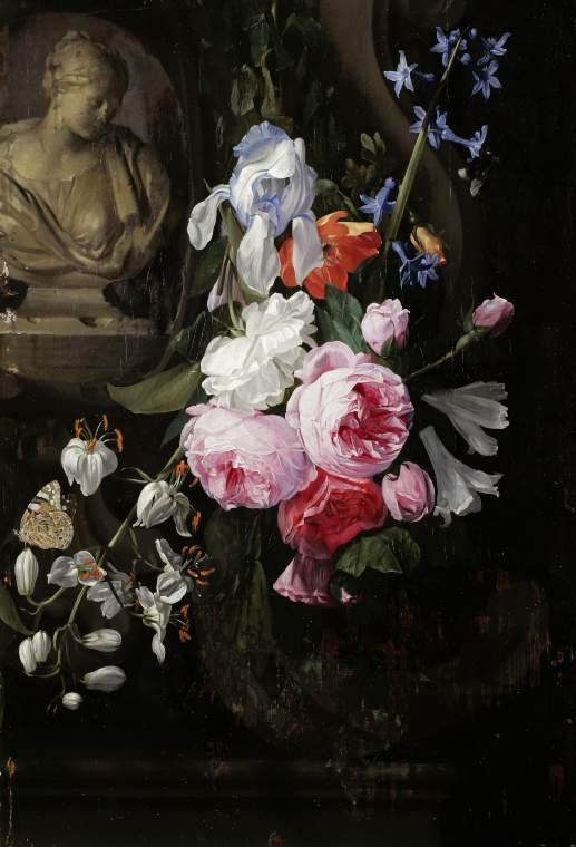 Jan Philip van Thielen (Atribuido a). Un jarrón de flores. Hacia 1660. Fitzwilliam Museum. Cambridge.
