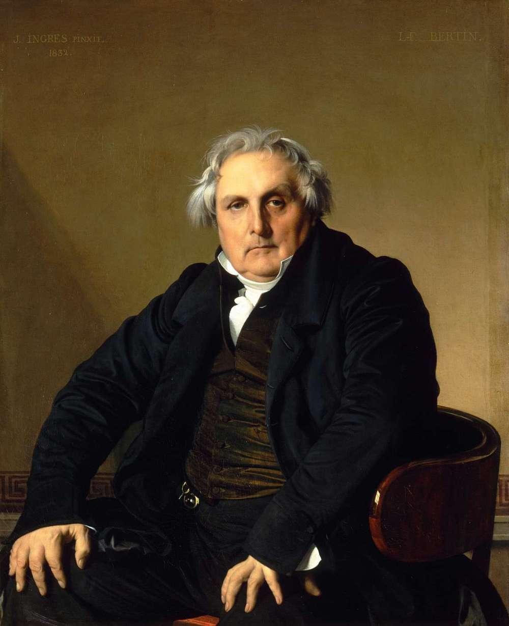 Jean-Auguste-Dominique Ingres. Retrato del señor Bertin.1832. Museo del Louvre. París.
