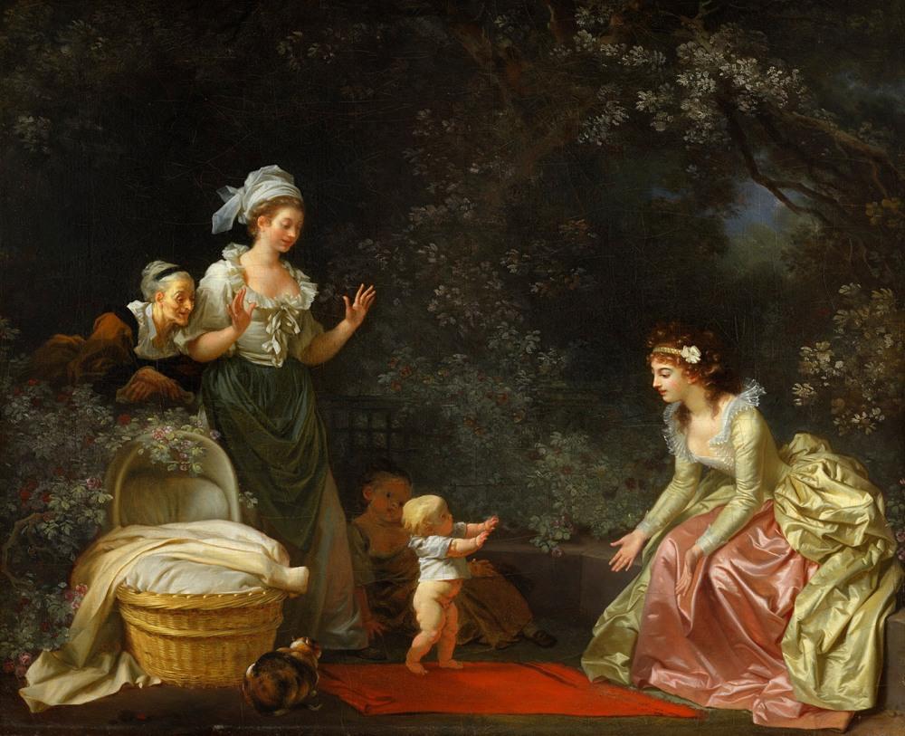 Jean Honoré Fragonard y Marguerite Gérard. Los primeros pasos. Hacia 1780- 1785. Harvard Art Museums, Fogg Museum.