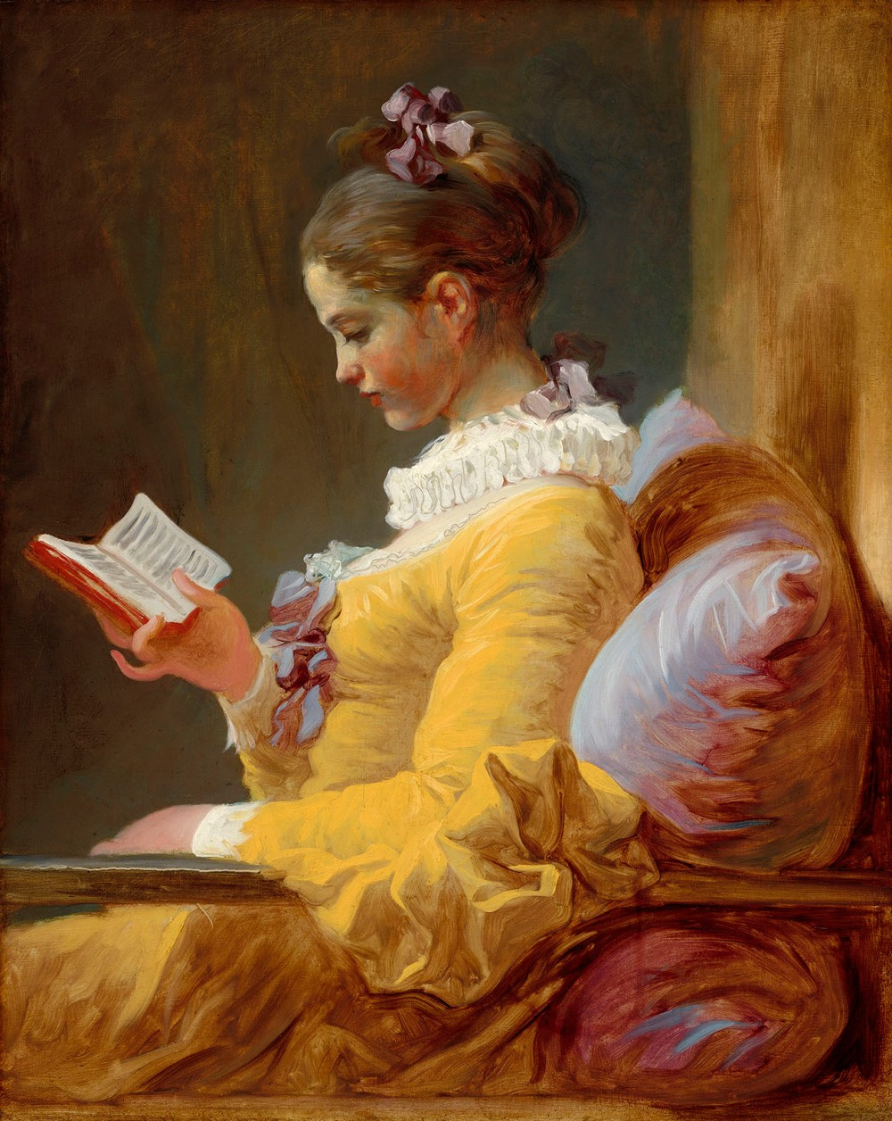 Jean-Honoré Fragonard. Joven leyendo. 1770-1772. National Gallery of Art. Washington.