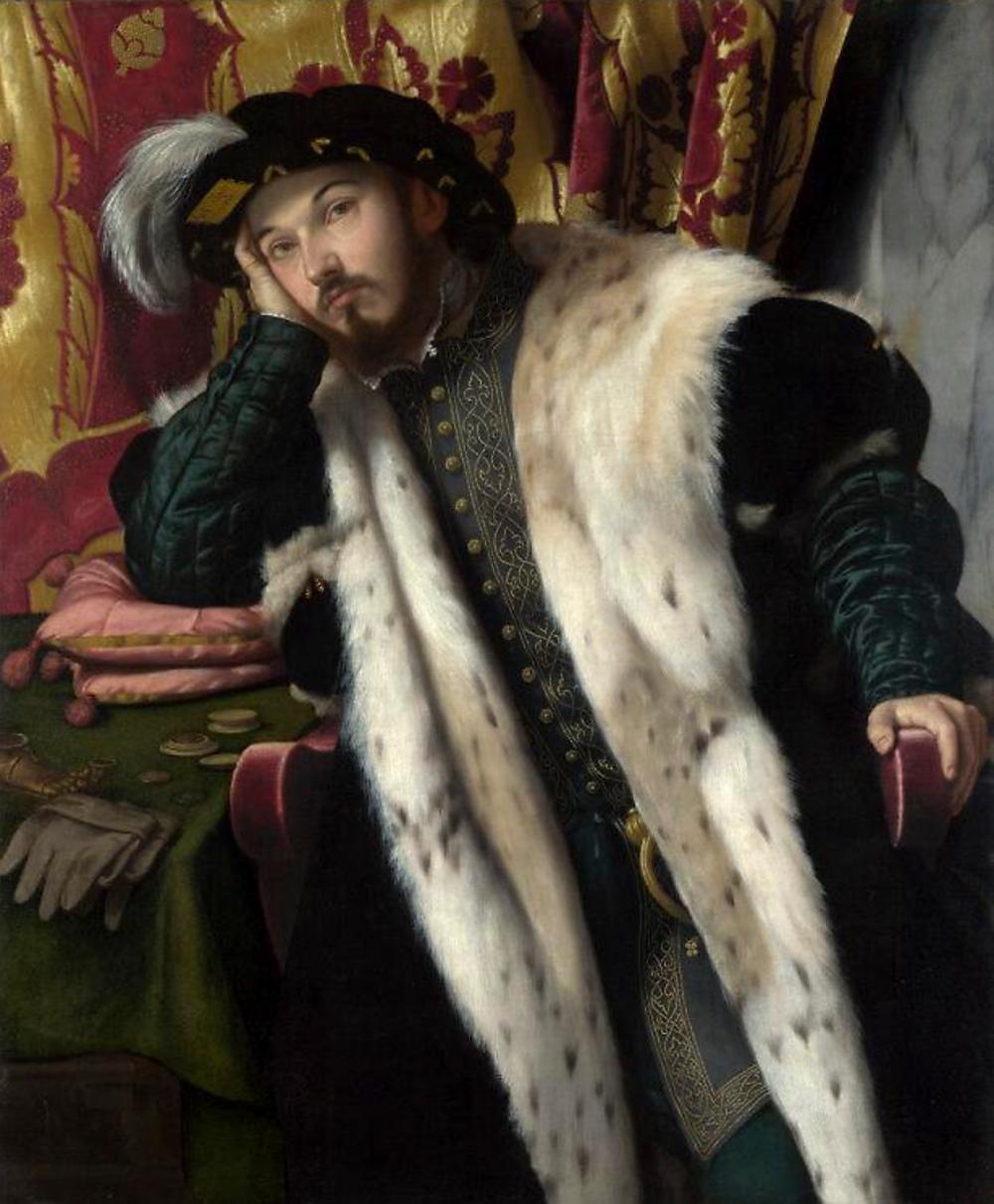 Moretto da Brescia. Retrato de un hombre joven. 1540-1545. National Gallery. Londres.