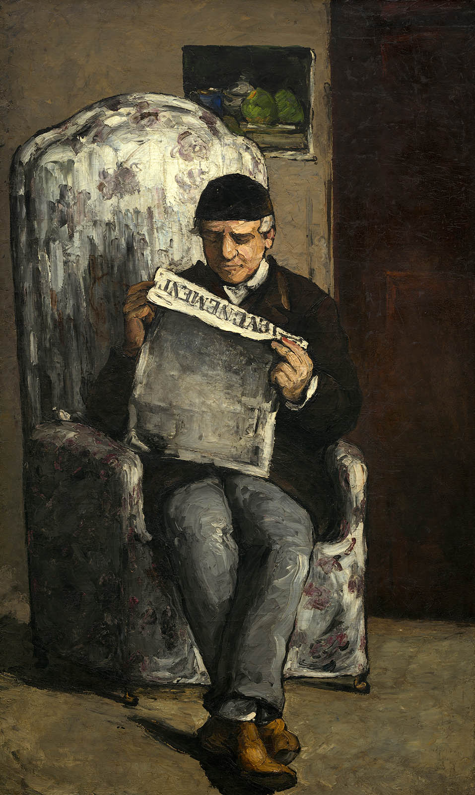 "Paul Cézanne. El padre del artista, leyendo ""L'Événement.1866. jNational Gallery of Art. Londres."
