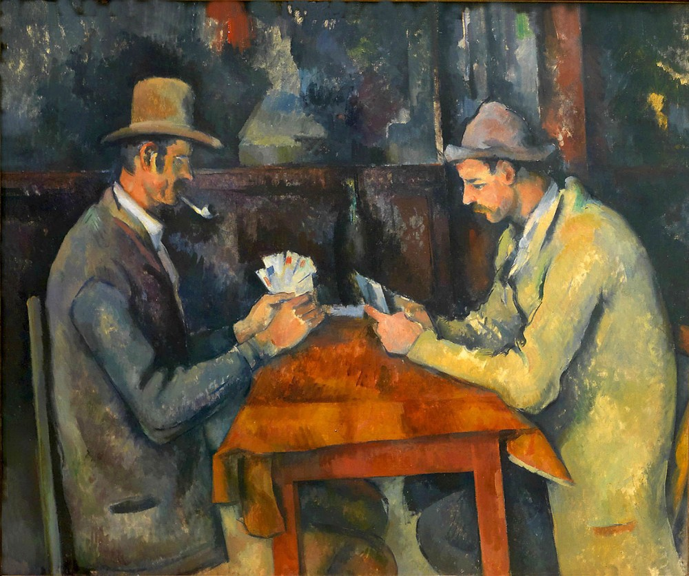 Paul Cézanne. Los jugadores de cartas. 1892-1895. Courtauld Institute of Art. Londres.