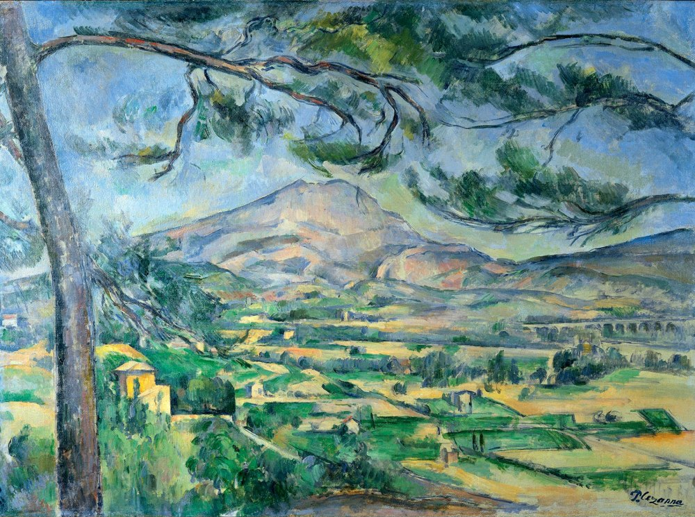 Paul Cézanne. Monte Sainte-Victorte. Hacia 1887. Courtauld Institute of Art. Universidad de Londres.