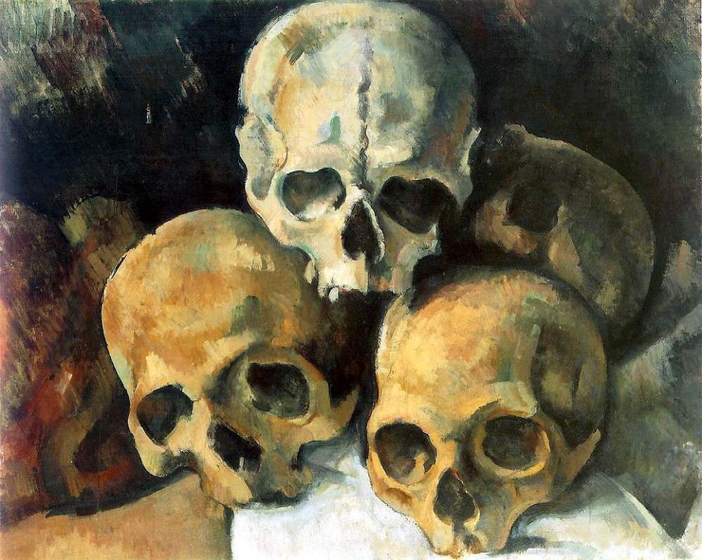 Paul Cézanne. Pirámide de calaveras. Hacia 1901. Colección particular.