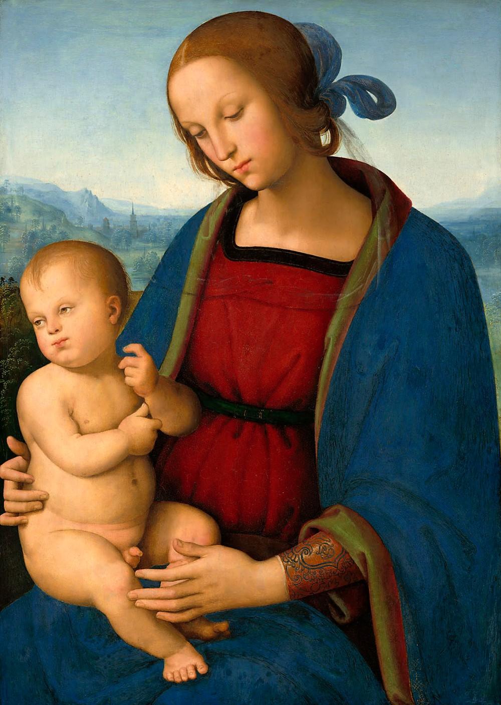 Pietro Perugino. La Virgen con el Niño. Hacia 1500. Galería Nacional de Arte. Washington.
