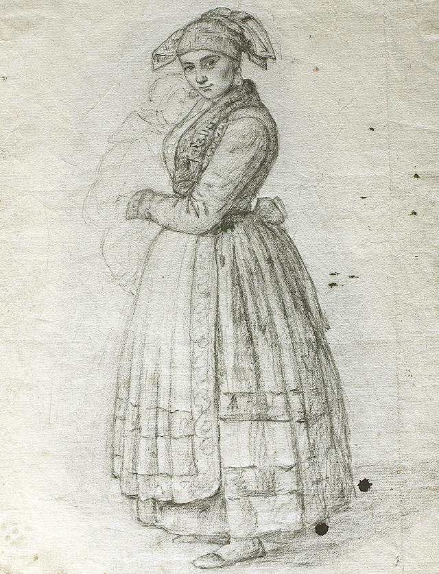 Rosario Weiss Zorrilla. La pasiega (esbozo). 1838.