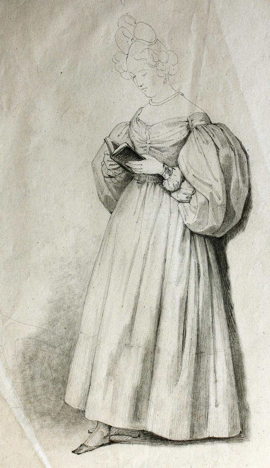 Rosario Weiss Zorrilla. Mujer Leyendo. 1830-1838.