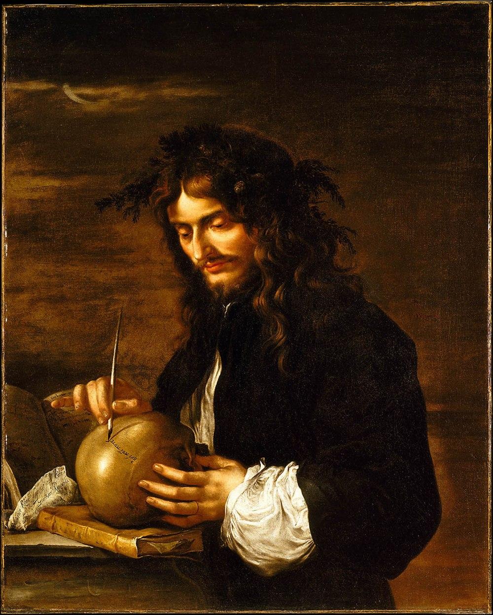 Salvatore Rosa. Autorretrato. Hacia 1647. Metropolitan Museum. Nueva York.