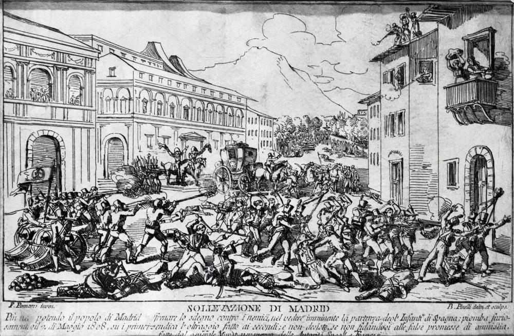 Sublevación del pueblo de Madrid el 2 de mayo de 1808. Siglo XIX. Museo de Historia de Madrid