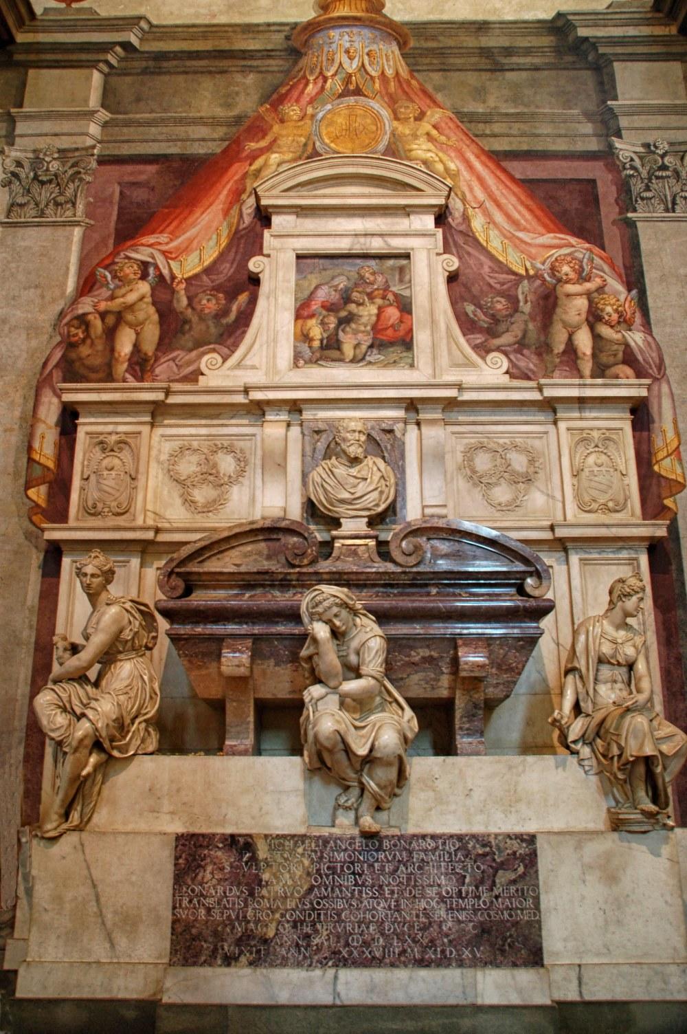 Tumba de Miguel Ángel. Iglesia de la Santa Croce. Florencia.
