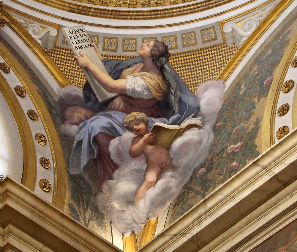 Volterrano. Sibila. Capilla Niccolini. Iglesia de la Santa Croce. Florencia. 1661.