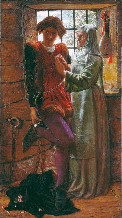 William Holman Hunt. Claudio e Isabel. 1850. Tate Britain. Londres.