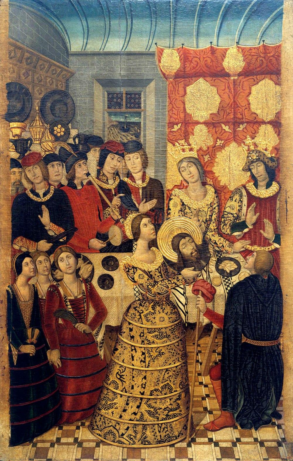 Pedro García de Benabarre y taller Banquete de Herodes. 1473-1482. Museo Nacional de Arte de Cataluña. Barcelona.