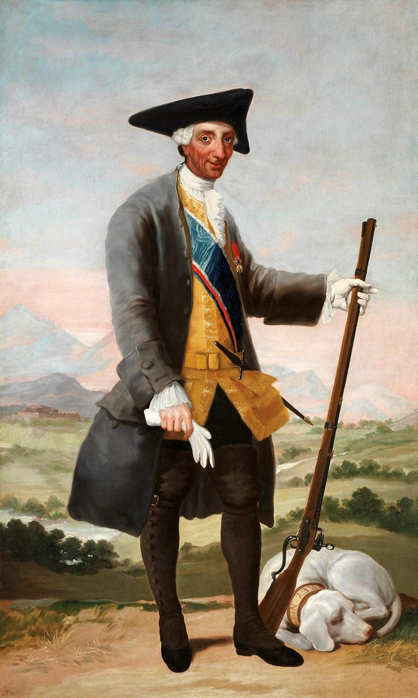 Francisco de Goya. Carlos III, cazador. Hacia 1786. Museo Nacional del Prado. Madrid.