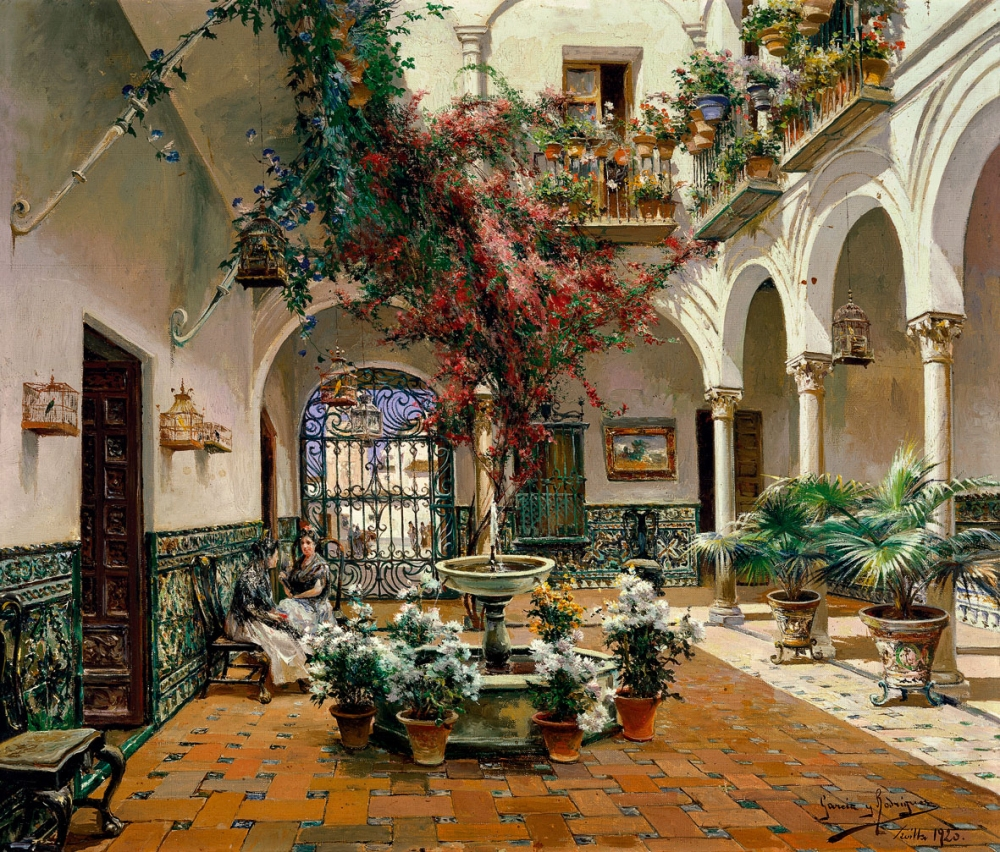 Manuel García Rodríguez Patio interior, Sevilla 1920. Museo Carmen Thyssen. Málaga.
