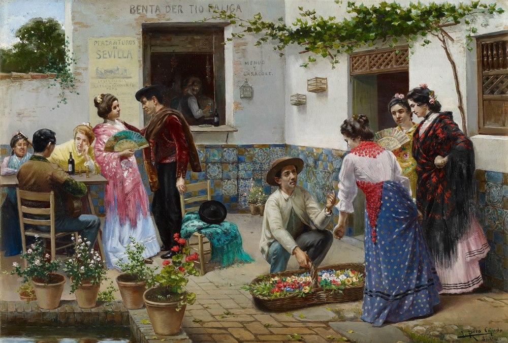 José Rico Cejudo. Andaluces en la venta. Museo Carmen Thyssen. Málaga.