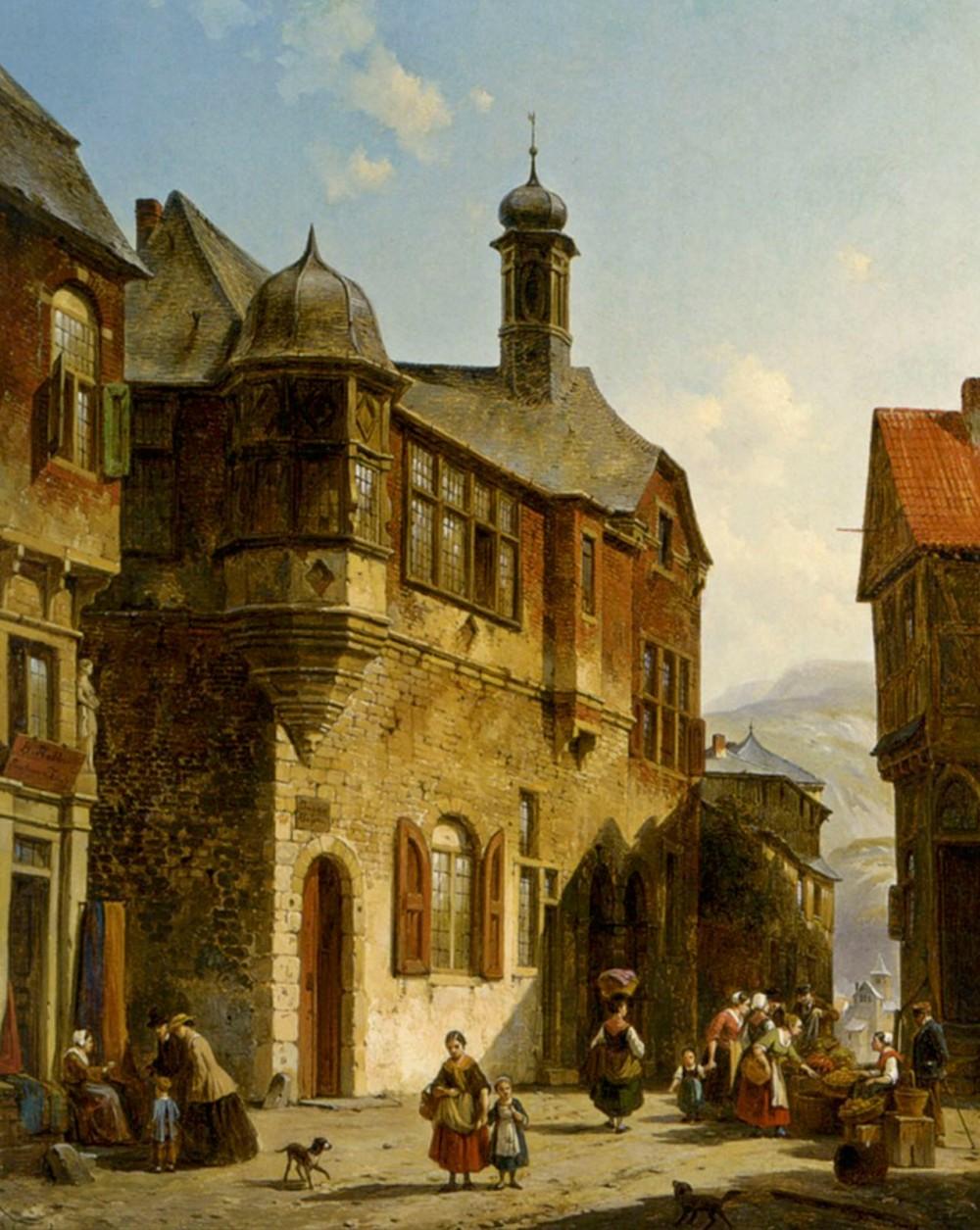 Jacques Carabain. Vista del callejón del judio. 1834. Colección particular.