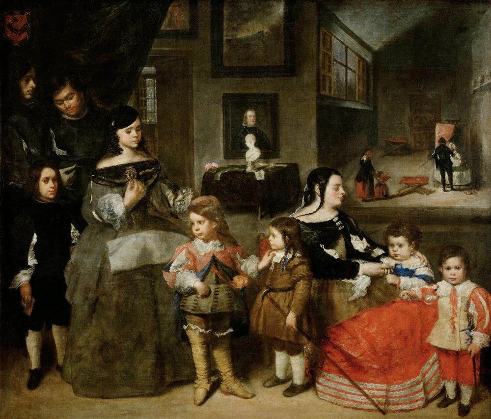 Juan Bautista Martínez del Mazo. La familia del artísta. 1665. Kunsthistorisches Museum. Viena.