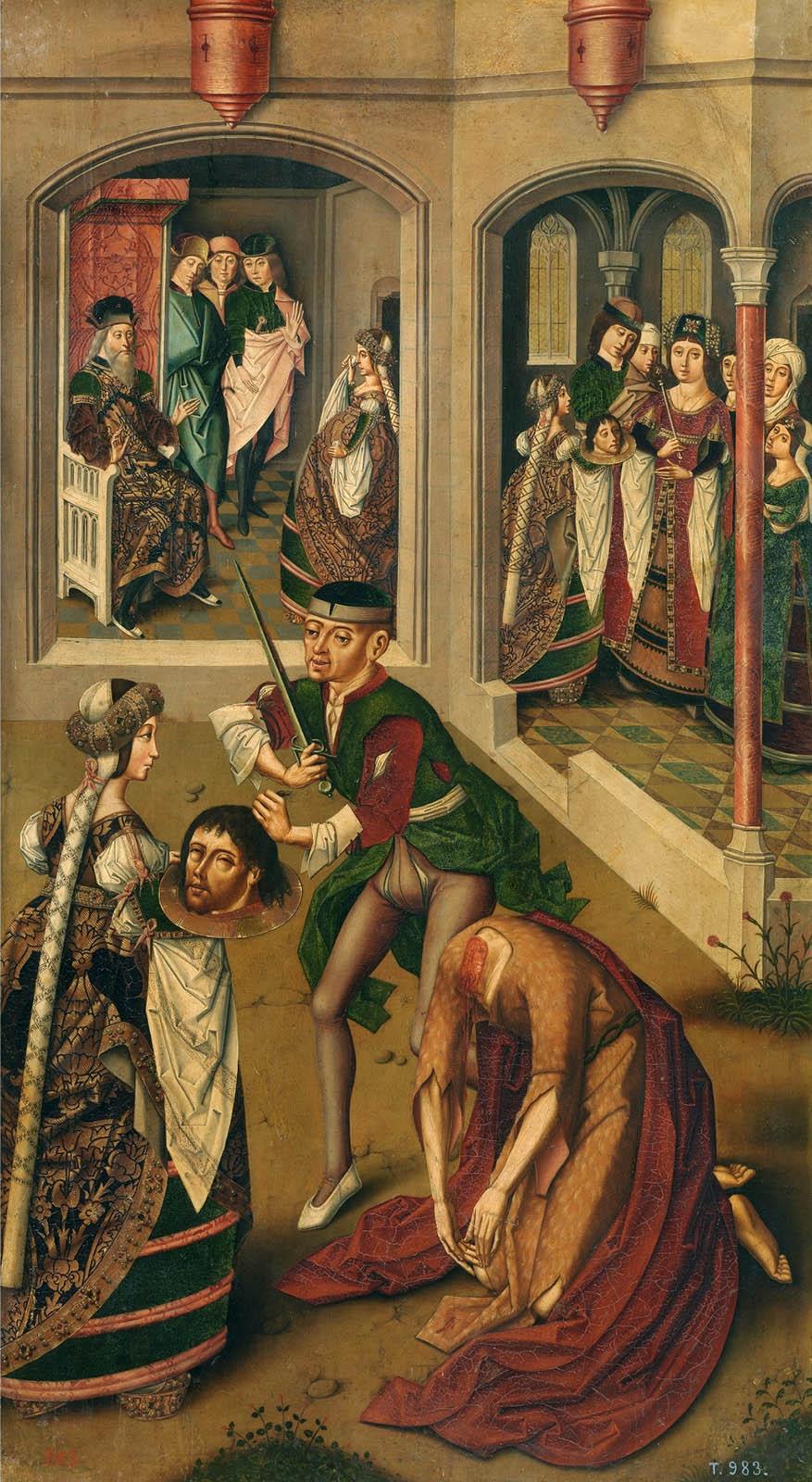 Maestro de Miraflores. La decapitación de san Juan Bautista. 1490-1500. Museo Nacional del Prado. Madrid.