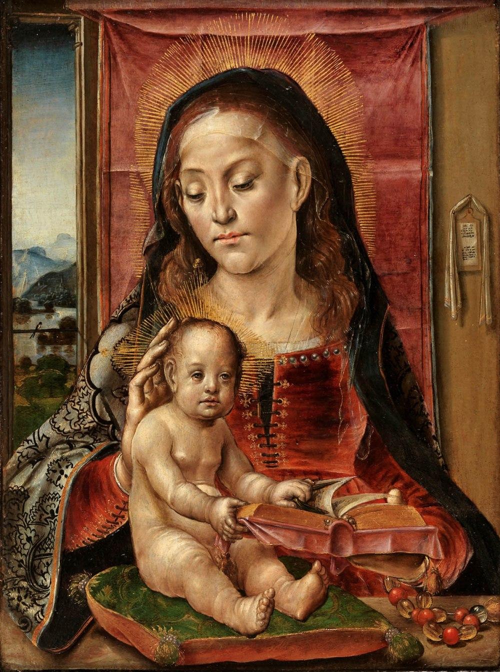 Pedro Berruguete (Círculo de).La Virgen con el Niño. 1480-1500. Museo Nacional del Prado. Madrid.
