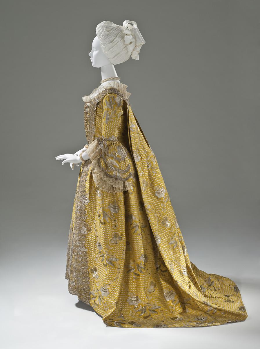 Vestido a la francesa. Hacia 1760. Inglaterra. LACMA. Los Ángeles.